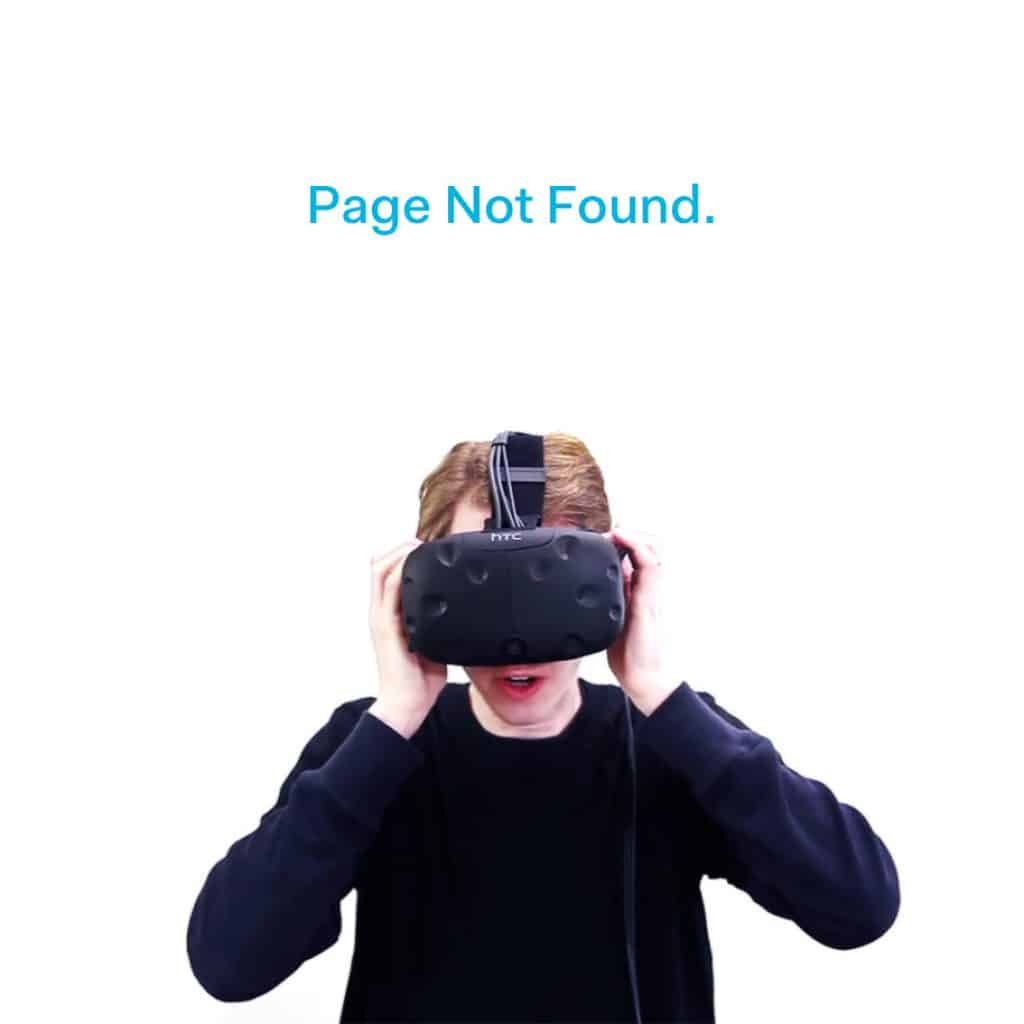 404 page not found VR