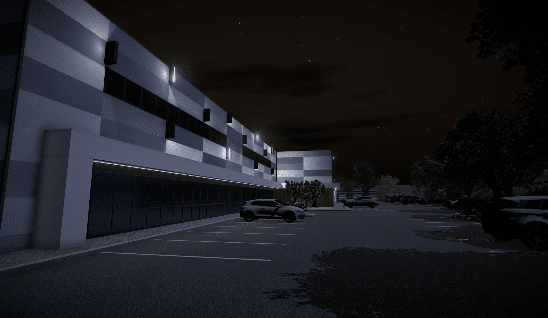 Unity 3D light and skybox night for Vectura VR